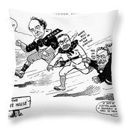 Presidential Campaign 1908 Throw Pillow
