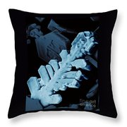Snow Crystal Throw Pillow