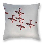 The Snowbirds 431 Air Demonstration Throw Pillow