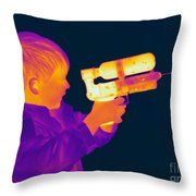 Thermogram Of A Boy Throw Pillow