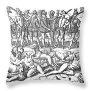 Vasco Nunez De Balboa Throw Pillow