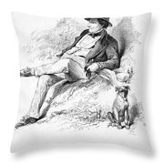 Washington Irving Throw Pillow