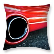 94 Vette Side Pipes Throw Pillow