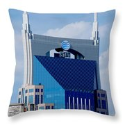 9th Avenue Att Building Nashville Throw Pillow