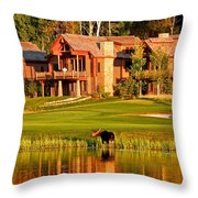 9th Hole's Occasional Water Hazard Throw Pillow