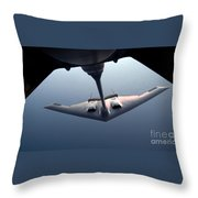 A B-2 Spirit Bomber Conducts Throw Pillow