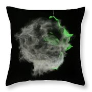 A Balloon Is Popped By A Gun Throw Pillow