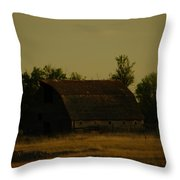 A Beauty Of An Old Barn Throw Pillow