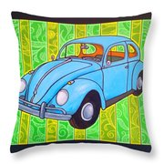 A Beetle Remembered Throw Pillow