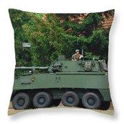 A Belgian Army Piranha IIic Throw Pillow