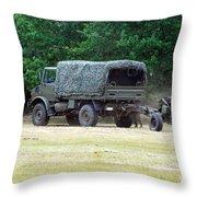 A Belgian Artillery Unit Setting Throw Pillow