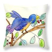 A Bird Throw Pillow