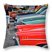 A Blast Of Color - Auto Row 7708 Throw Pillow