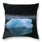 A Blue Iceberg And Its Reflection Throw Pillow