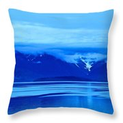 A Blue Slice Of Alaska Coast Throw Pillow