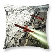 A Bqm-74e Aerial Drone Launches Throw Pillow