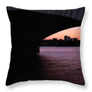 A Bridge To Rossalyn Throw Pillow