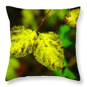 A Bright Yellow Dying  Throw Pillow