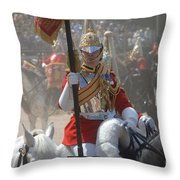 A British Life Guard Of The Household Throw Pillow