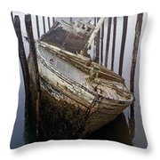 A Broken Boat Throw Pillow