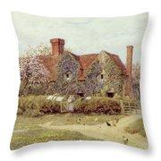 A Buckinghamshire House At Penstreet Throw Pillow