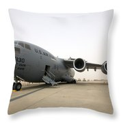 A C-17 Globemaster IIi Sits Throw Pillow
