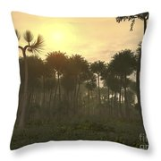 A Carboniferous Forest Of Midwestern Throw Pillow