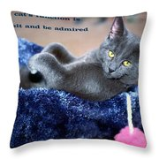 A Cats Function Throw Pillow