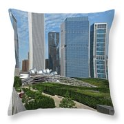 A Chicago View Throw Pillow