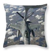 A Chilean Air Force F-16 Refuels Throw Pillow