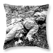 A Chinese Soldier Killed Throw Pillow