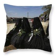 A Civil War-era Funeral Is Recreated Throw Pillow