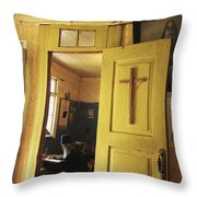 A Clergyman Studies Throw Pillow
