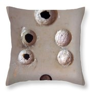 A Clogged Up 5 Point Electric Plug Point Throw Pillow