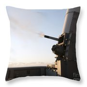 A Close-in Weapons System Fires A Burst Throw Pillow