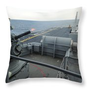 A Close-in Weapons System Fires Aboard Throw Pillow