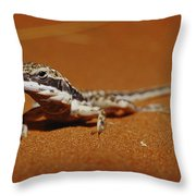 A Close View Of A Military Sand Dragon Throw Pillow