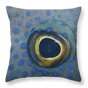 A Close View Of The Eye And Skin Throw Pillow
