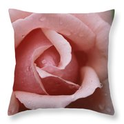 A Close View Of The Top Of A Pink Rose Throw Pillow