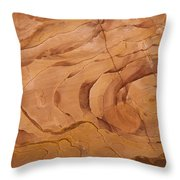 A Close View Sandstone Rocks Of Petra Throw Pillow