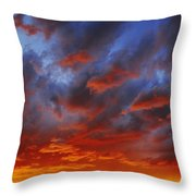 A Cloudy Sunset Throw Pillow