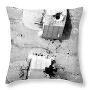 A Coalition Bombing Of Aircraft Hangers Throw Pillow