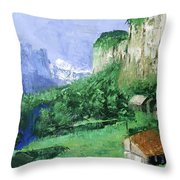 A Cold Clear Day Throw Pillow