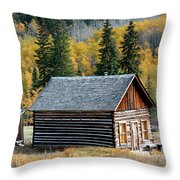 A Colorado Cabin Throw Pillow