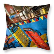 A Colorful Bar Throw Pillow