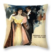A Contented Woman, C1898 Throw Pillow