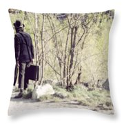 A Couple In The Woods Throw Pillow