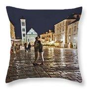 A Croatian Night Throw Pillow