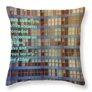 A Crowded Society Throw Pillow