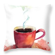 A Cup Of Coffee Throw Pillow